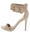 Dashing21 Nude Open Toe Ankle Buckle Band Stiletto Heel - Wholesale Fashion Shoes