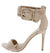 Dashing21 Nude Open Toe Ankle Buckle Band Stiletto Heel