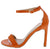 Danaye2 Orange Open Toe Ankle Strap Stiletto Heel