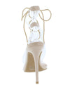 Dazed Nude Lucite Open Toe Cut Out Lace Up Stiletto Heel - Wholesale Fashion Shoes