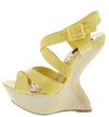 Dazzle Lemon Patent Cute Wedges - Wholesale Fashion Shoes
