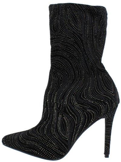 Dedicate48m Black Swirl Pull On Stiletto Ankle Boot - Wholesale Fashion Shoes