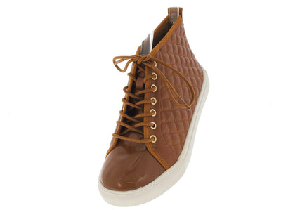 Desire10 Tan Quilted Sneaker Flat - Wholesale Fashion Shoes