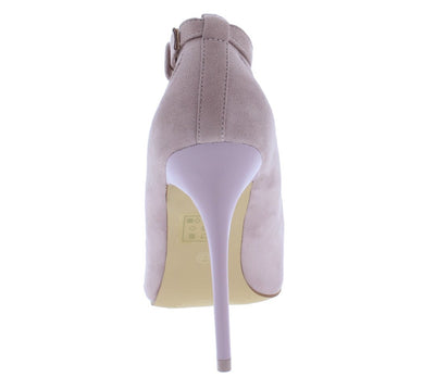 Diana01 Lilac Pointed Toe Cross Strap Cut Out Stiletto Heel - Wholesale Fashion Shoes