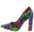 Crystal160 Multi Snake Pointed Toe Pump Block Heel