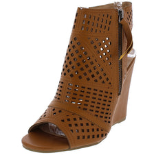 DONYA183 RUST WOMEN'S WEDGE - Wholesale Fashion Shoes