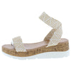 Double030 Beige Open Toe Cross Back Ankle Cork Wedge - Wholesale Fashion Shoes