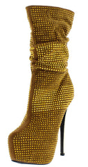 DRAMA GOLD WOMEN'S BOOT - Wholesale Fashion Shoes