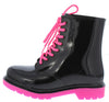 Drizzle02 Hot Pink Black Women's Boot - Wholesale Fashion Shoes