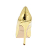 Dundee Gold Crocodile Pointed Toe Stiletto Pump Heel - Wholesale Fashion Shoes