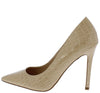 Dundee Nude Crocodile Crocodile Pointed Toe Stiletto Pump Heel - Wholesale Fashion Shoes