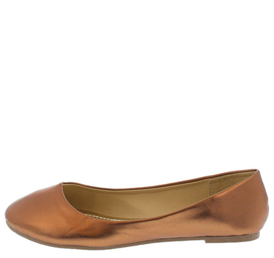 Edie1 Bronze Ballet Flat - Wholesale Fashion Shoes