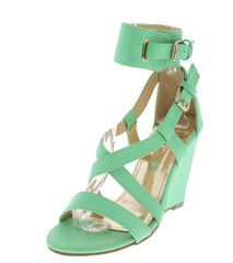 ELIDA2 MINT CUTE WEDGES - Wholesale Fashion Shoes