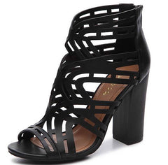 EMBARK15S BLACK WOMEN'S HEEL - Wholesale Fashion Shoes