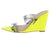 Exclusive04 Neon Yellow Pu Dual Strap Slide Wedge