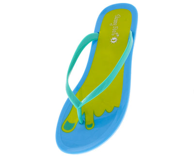 Earnest05 Seafoam Peace Foot Jelly Sandal - Wholesale Fashion Shoes