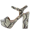 Eberta2 Beige Open Toe Ankle Strap Platform Heel - Wholesale Fashion Shoes