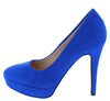 Elegance77 Royal Blue Almond Toe Platform Stiletto Heel - Wholesale Fashion Shoes