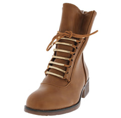 BECKETT TAN COMBAT ANKLE BOOT - Wholesale Fashion Shoes