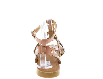 Emily34 Nude T Strap Round Cut Straps Sandal - Wholesale Fashion Shoes