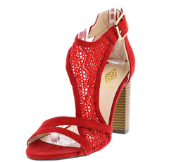 EMILY RED WOMEN'S HEEL - Wholesale Fashion Shoes