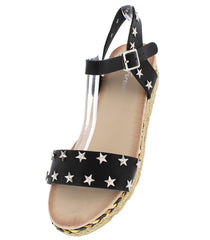 ERIN2 BLACK WOMEN'S SANDAL - Wholesale Fashion Shoes