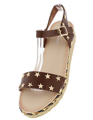 ERIN2 BROWN WOMEN'S SANDAL - Wholesale Fashion Shoes