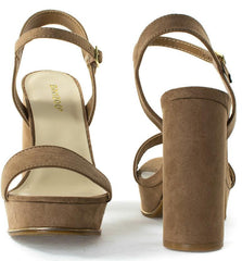 ESSENCE01S CAMEL WOMEN'S HEEL - Wholesale Fashion Shoes