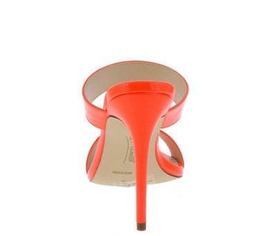 Exception01s Neon Orange Pointed Open Toe Dual Strap Heel - Wholesale Fashion Shoes