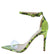 Exception28 Neon Yellow Lucite Pointed Open Toe Stiletto Heel