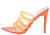 Exception52 Neon Orange Pointed Open Toe Mule Heel