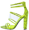 Eyeing02 Neon Yellow Black Women's Heel - Wholesale Fashion Shoes