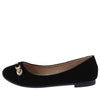 FJ028 Black Sparkle Strap Slide On Ballet Flat - Wholesale Fashion Shoes
