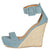 Flower17x Light Blue Open Toe Platform Espadrille Wedge