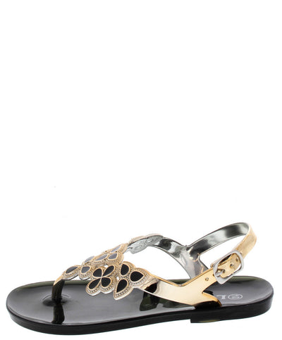Fairy25k Black Gemstone Jelly Kids Sandal - Wholesale Fashion Shoes