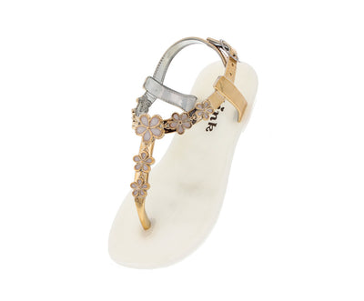 Fairy26k White Flower Jelly Kids Sandal - Wholesale Fashion Shoes