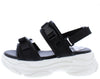 Fancy3 Black Clip Strap Open Toe Slingback Chunky Sandal - Wholesale Fashion Shoes