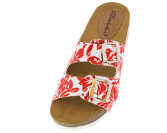 FANNIE12 GRAPEFRUIT SLIP-ON FLAT SANDAL - Wholesale Fashion Shoes