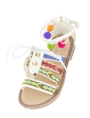 FESTIVE25K WHITE KIDS SANDAL - Wholesale Fashion Shoes