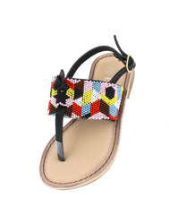 FESTIVE27K BLACK KIDS SANDAL - Wholesale Fashion Shoes