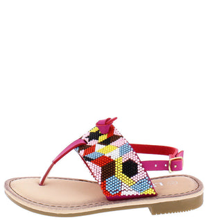 5cc299678a78ff Festive27k Fuchsia Multi Color Sling Back Sandal - Wholesale Fashion Shoes