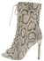 Filter Brown Snake Peep Toe Lace Up Stiletto Boot
