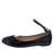 Flexible49 Black Round Toe Ankle Strap Ballet Flat
