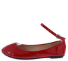 Flexible49 Red  Round Toe Ankle Strap Ballet Flat - Wholesale Fashion Shoes
