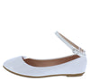 Flexible49 White Women's Flat - Wholesale Fashion Shoes