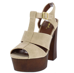 FRAMEY02A STONE WOMEN'S HEEL - Wholesale Fashion Shoes