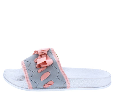 Della052 Grey Women's Sandal - Wholesale Fashion Shoes