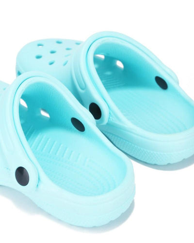 Gardendoll Blue Cut Out Round Toe Slide On Kids Sandal - Wholesale Fashion Shoes