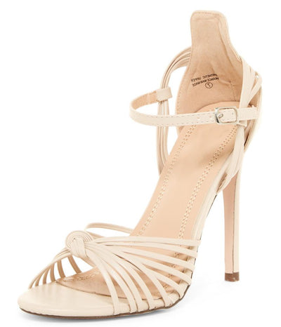 Kaylee280 Nude Pu Strappy Peep Toe Ankle Strap Stiletto Heel - Wholesale Fashion Shoes