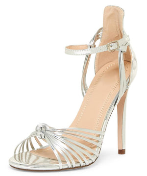 5b3639a1a20 Kaylee280 Silver Metallic Strappy Peep Toe Ankle Strap Stiletto Heel -  Wholesale Fashion Shoes
